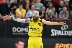 Barmer 2. Basketball Bundesliga  2018/2019  28. SpieltagTigers Tuebingen - PS Karlsruhe Lions         16.03.2019Tyler Amos Laser (Tigers)FOTO: ULMER PressebildagenturxxNOxMODELxRELEASExx